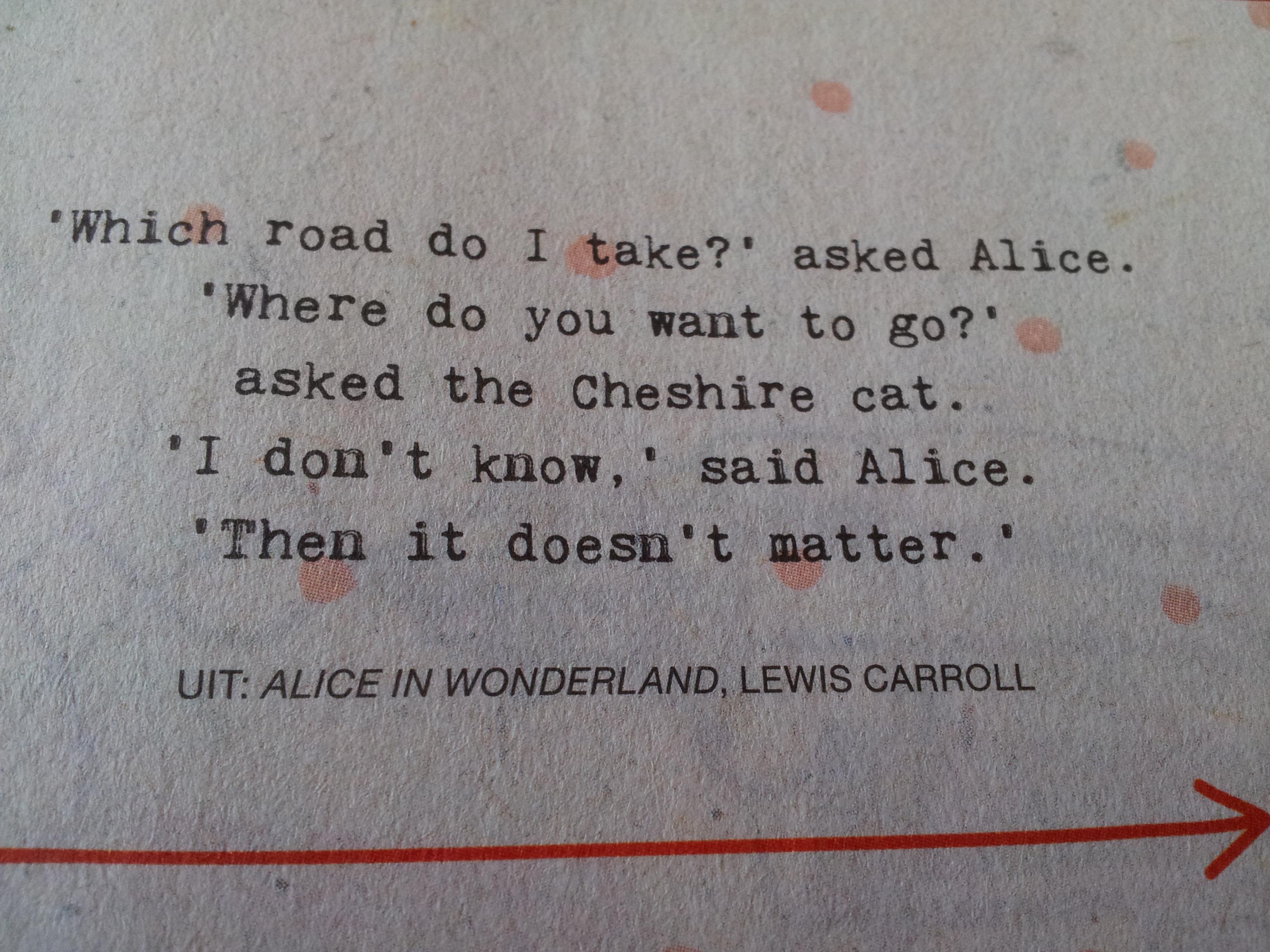 Citaten Uit Alice In Wonderland : Recht op je doel af in stappen nicole kroesen
